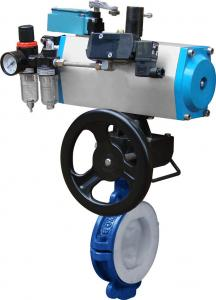 China Aluminum Alloy Ball Valve Actuators , Double Acting Pneumatic Actuator For Butterfly Valves on sale