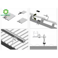 China Aluminum Rooftop  Aluminum Brackets Solar Structure PV Mounting Systems / Solar Panel Roof Fixing Brackets on sale