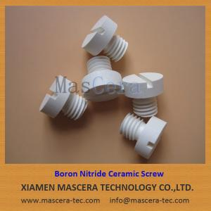 China Hot Pressed Boron Nitride Ceramic Screw for High Temperature Vacuum Furnace on sale