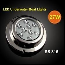 China LED  pool light ,27W 1200LM led surface mount marine lights,LED underwater light on sale
