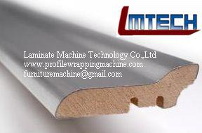 China Interior Decorative Moulding Crown Molding profile wrapping machine on sale
