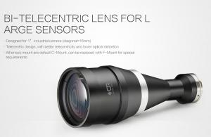 China Large Sensors Bi - Telecentric Optical Lenses , Industrial Camera Lens CE / ROHS Approved on sale