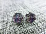 Dichroic Glass stud earrings purle star shaped fashion  for Women Jewelry European by original factory wholsale supplier