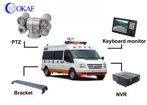 China 2 Mega Pixel LED Vehicle Mounted CCTV Cameras PTZ Outdoor Security System on sale