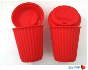 China silicon coffee cup ,silicon drinking cup for sale on sale