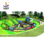 Fun Custom Playground Slides High Temperature Baking Finished For Children