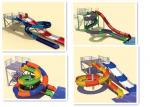 Family Water Slides Interactive Swimming Pool Water Slide Equipment For Holiday Resort
