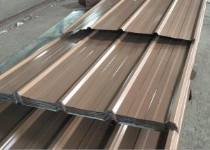 China 0.15 - 0.8mm Thick Corrugated Roof Panels , Length 3000mm Color Coated Roofing Sheets on sale