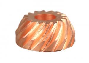 China Mass Production Turning Machining Service Copper CNC Machining Parts With Gear on sale