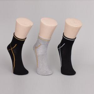 China Organic Cotton Under Armour Black Ankle Socks For Men / Women on sale