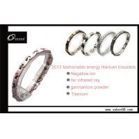 Sobon Pink Balance Germanium Ceramic Wolfram, Stainless steel Magnetic Titanium Bracelets