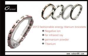 China Volfrâmio cerâmico do germânio do equilíbrio do rosa de Sobon, braceletes Titanium magnéticos de aço inoxidável on sale