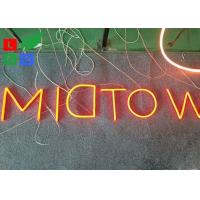 Fashion LED Shop Display Outdor LED Neon Sign With Hided Stainless Steel Backing