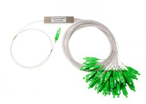 China 900um Mini Steel Tube Fiber Optic PLC Splitter 1 x 32 Passvie Network on sale
