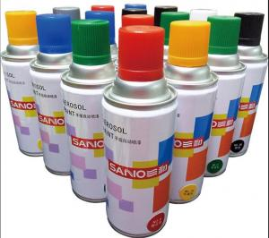 China fast dry  auto  acrylic Aerosol spray paint  ,transprant  and other colors , SANO brand  ,400ml ,238G on sale