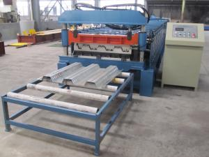 China Misubishi PLC Automatic Floor Decking Roll Making Machine with CE Certificate on sale