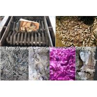 China Waste Cardboard Dual Shaft Shredder , Industrial Paper Shredder Machine on sale