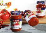 Pasta de tomate enlatada pura orgânica nos frascos/cilindros/latas de vidro para o restaurante