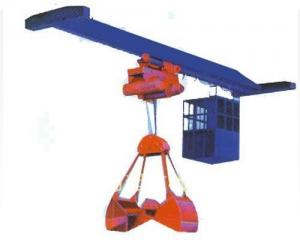 China LZ Single Girder Overhead Crane Electrical Control Wear Resistant With Grab on sale