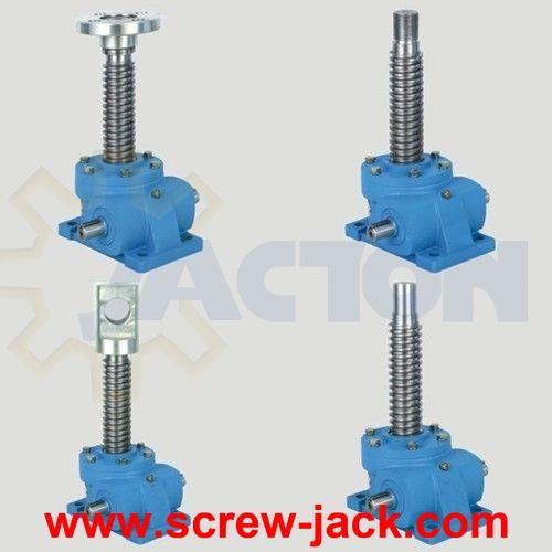 machine drawing screw jack assembly, worm gear machine screw