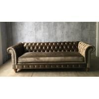 China 2017 hot sale moden luxury chesterfield sofa with grey velvet,living room sofa,french style sofa,oak wood sofa on sale