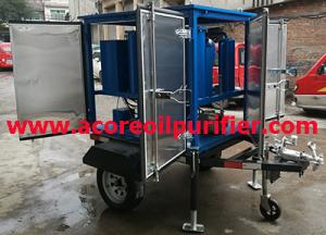 China Mobile Transformer Oil Filteration Process Machine Mounted on Trailer with Weather-proof Canopy on sale