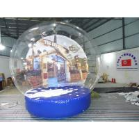 Durable Transparent Inflatable Snow Globe With Artificial Snow For Yard Decorations