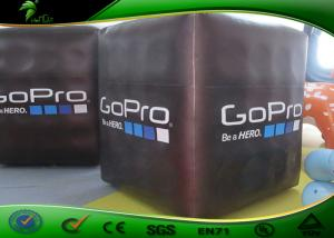 China Inflatable Black Cube Ball / Inflatable Floating Helium Square With Logo Printing on sale