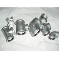 China NPT Galvanized Malleable iron pipe fittings on sale