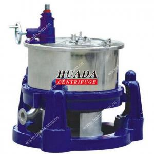 China SG Manual Scraper Bottom Discharge Basket Centrifuge on sale