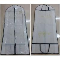 China Non Woven Handle Long Hanging Clothes Garment Bags Collapsible Silk Screen Printing on sale