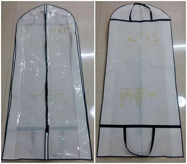 Non Woven Handle Long Hanging Closet Garment Bags Collapsible for ...