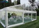 PVC Aluminum Transparent Outdoor Wedding Marquee?Clear Roof White Marquee Tent