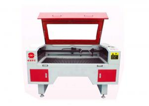 China Stable / Precise Cloth Laser Cutting Machine 2 Head CNC 150w For Sample Making on sale
