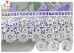 Embroidered Flower Guipure Polyester Lace Trim For Dress DTM Azo Free Dyeing