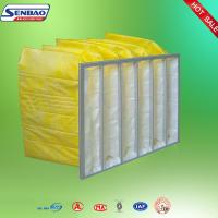 Portable F8 Yellow Pocket Synthetic Fiber Air Filters Low Initial Resistance