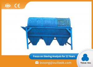 China Compact Structure Electric Trommel Screen Silica Sand Drum Separator on sale