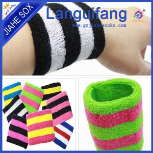 China Custom Fashion sport terry sweat running wristbands Cotton Basketball Sweatbands on sale