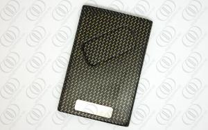 China Gold Weaves Carbon Fiber Jewelry  Credit Card Holder Case In Matte Finish Engravable on sale