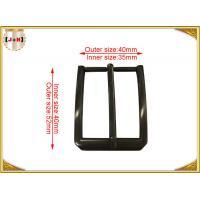 Zinc Alloy Custom Made Pin Belt Buckle For Men Square Gunmetal Finish