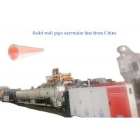China Extrusion Molds 0L/D PLC HDPE Pipe Extrusion Line on sale