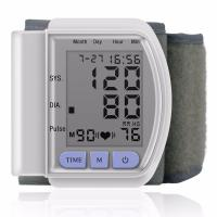 LCD Digital Home Automatic Wrist Blood Pressure Pulse Sphygmomanometer and Tonometer Monitor