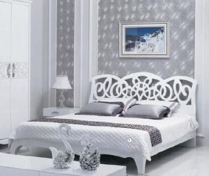 China Panel Bedroom Furniture / Home Room Furniture White High Gloss Painting on sale