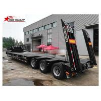 3 Line 6 Axles Hydraulic Low Bed Trailer For Heavy Machinery Transporting