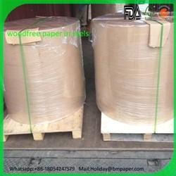 China Hot sale 60gsm 70gsm 80gsm woodfree paper roll in malaysia on sale