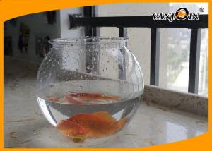 China Beautiful 4L Round PET Plastic Fish Bowl , Aquarium Fish Tank For Home Decorative on sale