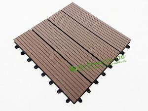 China Garden Tiles For Sale, WPC Outdoor decking For Garden, easy Installation wpc decking tiles, 300x300mm on sale
