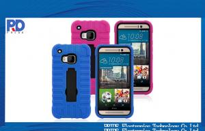 China HTC One M9 Soft Rubber Hybrid Robot Back Cell Phone Cover Case Housing on sale