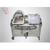 Toy Bag Baby Play Bed , Portable Baby Cot Thickened Alloy Steel Pipe 0 - 6 Years Old