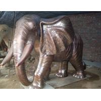 China Cast large brass elephant sculpture,bronze animal sculptures on sale
